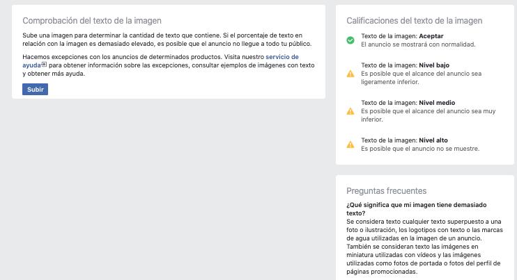 Problema con Texto en las Imágenes en Facebook Ads